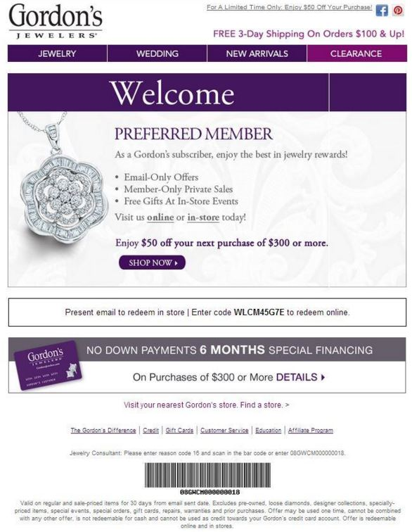 Gordons Credit Card >> Gordon S Jewelers Printable Coupons Couponpark Blog