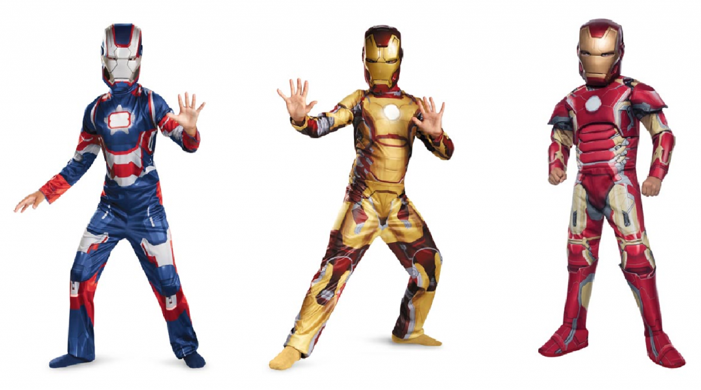 Halloween iron man mark child costume